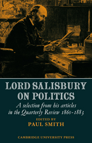 Lord Salisbury on Politics