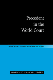 Precedent in the World Court