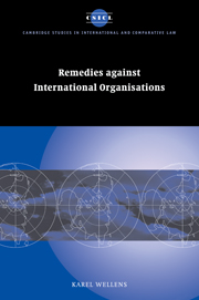 Remedies against International Organisations