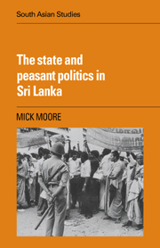 The State and Peasant Politics in Sri Lanka