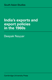 India's Exports and Export Policies in the 1960's
