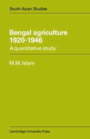 Bengal Agriculture 1920–1946