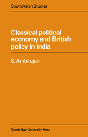 Classical Political Economy and British Policy in India