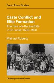 Caste Conflict Elite Formation