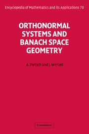 Orthonormal Systems and Banach Space Geometry