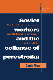 Soviet Workers and the Collapse of Perestroika