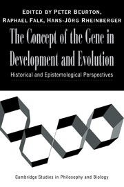 The Concept of the Gene in Development and Evolution