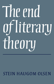 The End of Literary Theory