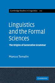 Linguistics and the Formal Sciences