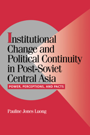Institutional Change and Political Continuity in Post-Soviet Central Asia