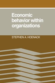 Economic Behaviour within Organizations