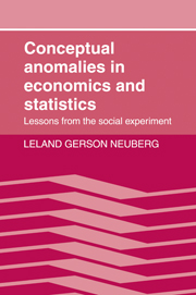 Conceptual Anomalies in Economics and Statistics