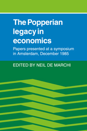 The Popperian Legacy in Economics