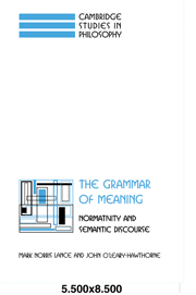The Grammar of Meaning