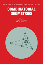 Combinatorial Geometries