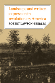 Landscape and Written Expression in Revolutionary America