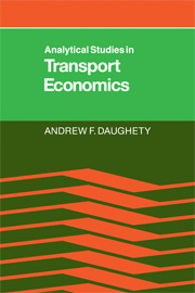 Analytical Studies in Transport Economics