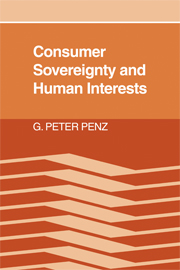 Consumer Sovereignty and Human Interests