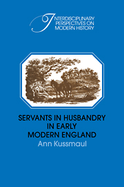 Servants in Husbandry in Early Modern England