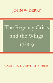 The Regency Crisis and the Whigs 1788-9
