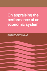 On Appraising the Performance of an Economic System