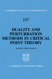 Duality and Perturbation Methods in Critical Point Theory