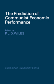 The Prediction of Communist Economic Performance