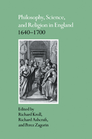 Philosophy, Science, and Religion in England 1640–1700