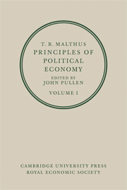 T. R. Malthus: Principles of Political Economy