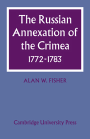 The Russian Annexation of the Crimea 1772–1783