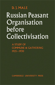 Russian Peasant Organisation Before Collectivisation