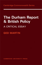 The Durham Report and British Policy