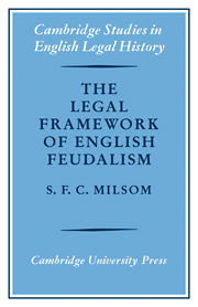 The Legal Framework of English Feudalism