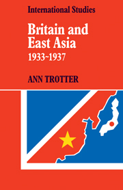 Britain and East Asia 1933–1937