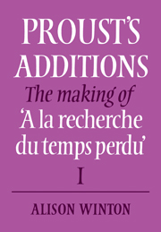 Proust's Additions