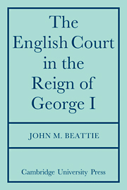 The English Court in the Reign of George 1