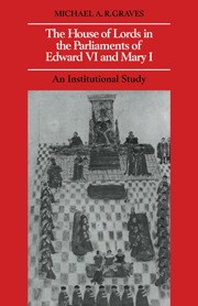 The House of Lords in the Parliaments of Edward VI and Mary I