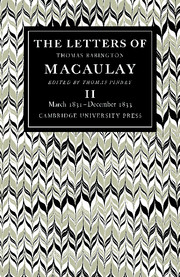 The Letters of Thomas Babington MacAulay