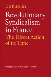 Revolutionary Syndicalism in France