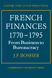 French Finances 1770–1795
