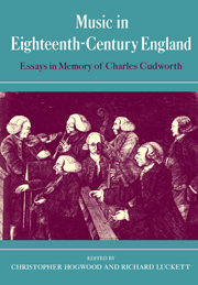 Music in Eighteenth-Century England