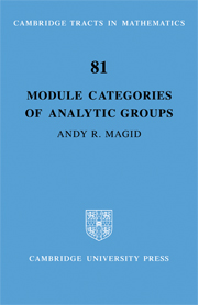 Module Categories of Analytic Groups