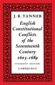 English Constitutional Conflicts of the Seventeenth Century