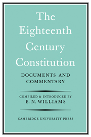 The Eighteenth-Century Constitution 1688-1815