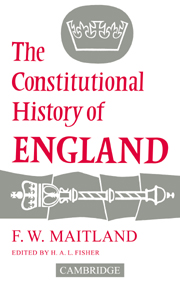 The Constitutional History of England