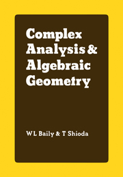 Complex Analysis and Algebraic Geometry