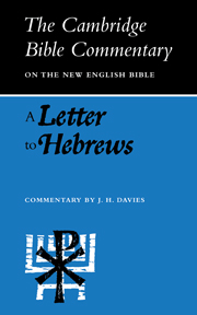A Letter to Hebrews