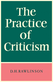 The Practice of Criticism