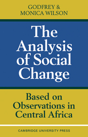 The Analysis of Social Change