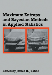 Maximum Entropy and Bayesian Methods in Applied Statistics